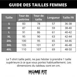 Guides des tailles t shirt sudation femme manches longue s m l xl 2xl 3xl 4xl