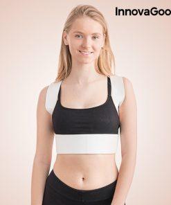 femme portant gilet redresse dos correcteur de dos magnetique reglable