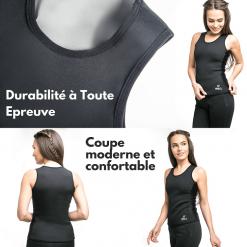 gilet de sudation femme effet sauna coupe moderne
