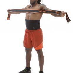 homme sport avec Ceinture de sudation maison sveltus