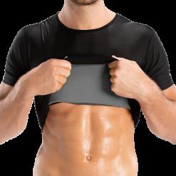 t-shirt de sudation pour homme ventre plat abdos