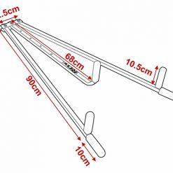 assouplisseur de jambes appareil grand ecart rdx schema dimensions