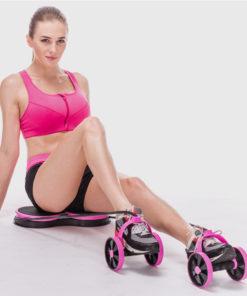Femme avec appareil fitness