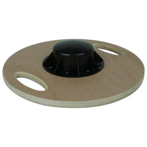 plateau equilibre blance board rond poignees bois dessous