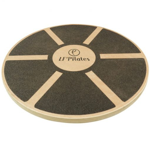 plateau equilibre blance board rond poignees bois dessus
