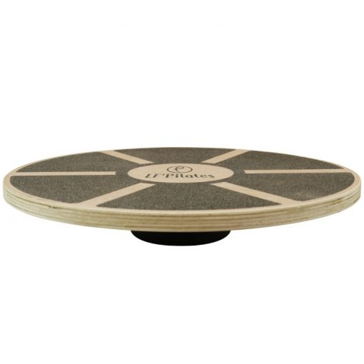 plateau equilibre blance board rond poignees bois