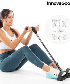 rameur elastique de musculation multi usages avec guide d exercices inclus