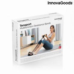 rameur elastique de musculation multi usages avec guide d exercices packaging