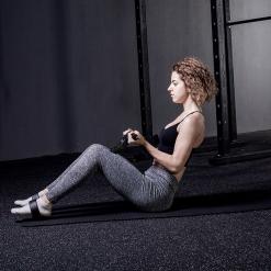femme exercice rameur elastique home fit rover noir