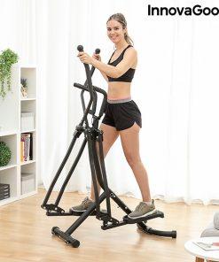 femme utilisant velo elliptique compteur de calorie