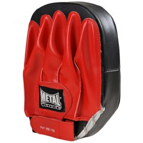 paire de pattes d'ours pour sports de combat metal boxe rouge