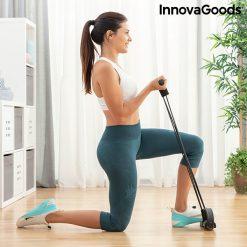 rameur elastique de musculation multi usages avec guide d exercices curl biceps