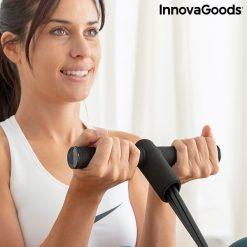 rameur elastique de musculation multi usages avec guide d exercices guidon