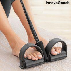 rameur elastique de musculation multi usages avec guide d exercices pedalier