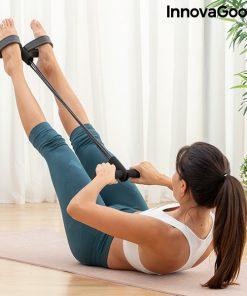 rameur elastique de musculation multi usages avec guide d exercices tirage