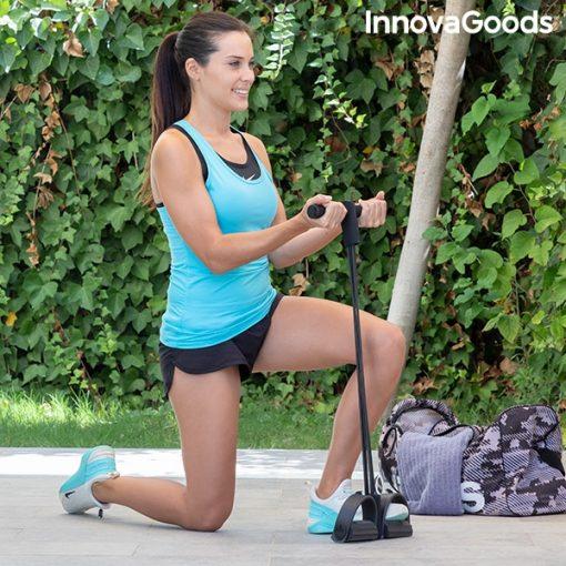 rameur elastique de musculation multi usages avec guide d exercices outdoor