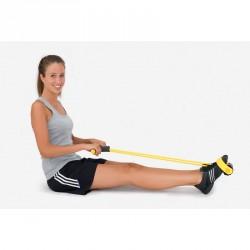 exercice rameur élastique tirage horizontal