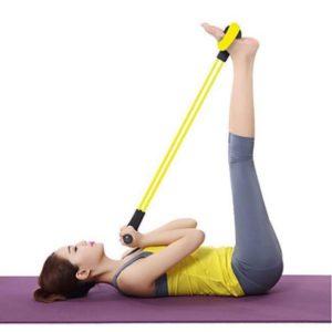 rameur élastique exercice maison relevé de jambes
