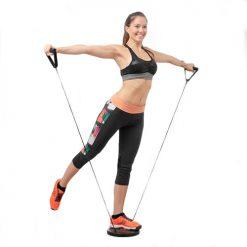 Disque rotatif de fitness avec elastiques