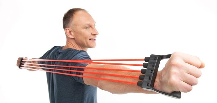 exercices de musculation et fitness avec extenseur