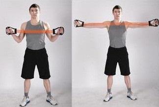 Exercice d'extension latéral avec extenseur
