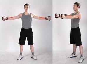 écartés avec l'extenseur de musculation