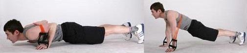 pompes avec extenseur de musculation