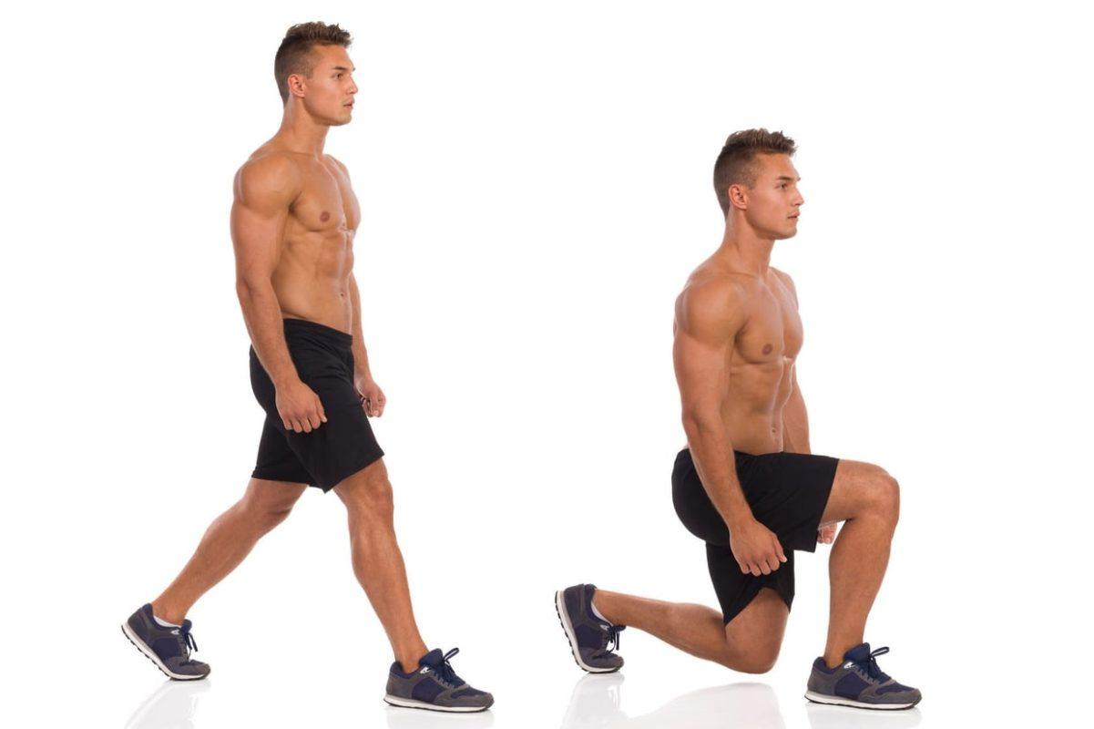 exercice de la fente avant mouvement
