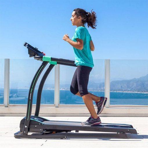 tapis de course à pied pliable inclinable 14 km/h transportable