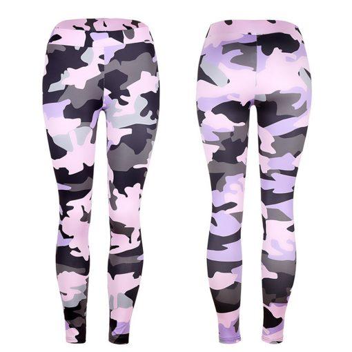 Legging camouflage treillis militaire rose pour femme sans modèle
