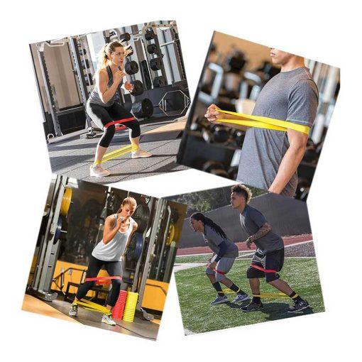 Bandes élastiques de résistance pour fitness et musculation (lot de 6) exemple d'exercices