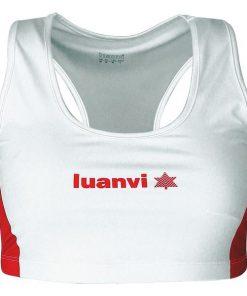 brassiere de sport luanvi blanche et rouge