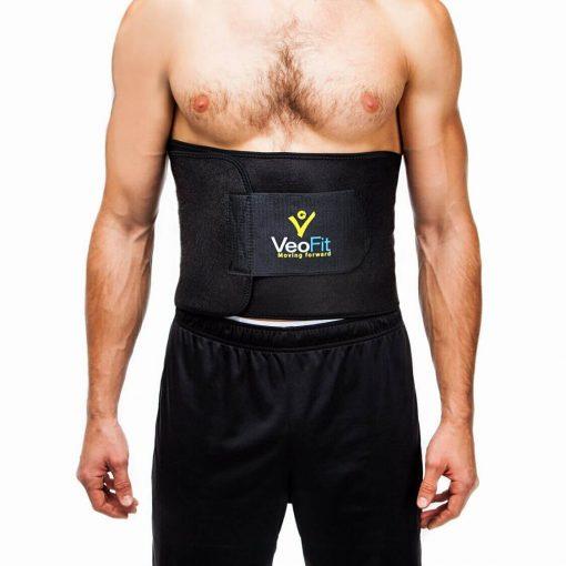homme portant la ceinture de sudation musculation amincissante noire