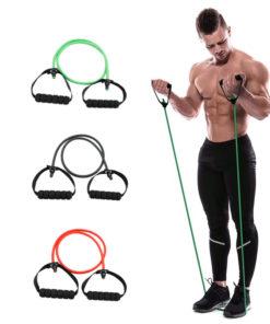 Élastique fitness/musculation avec poignées démonstration homme