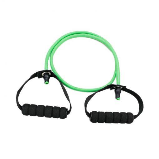 Élastique fitness/musculation avec poignées démonstration couleur verte