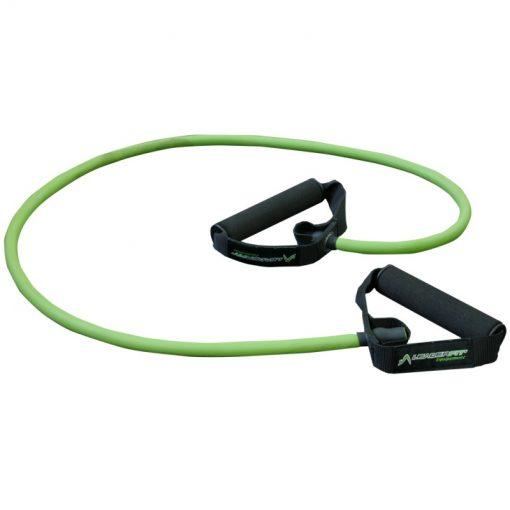 elastique fitness musculation avec poignees resistance forte couleur verte