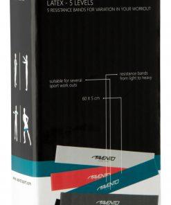 ensemble de 5 bandes elastiques de resistance musculation packaging