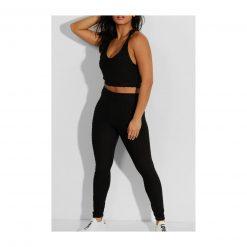 Ensemble de sport pour femme avc legging et brassiere top push up noir