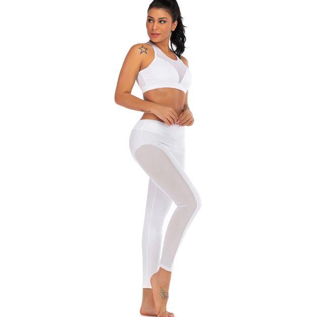 bas prix 34f4e 7185f Ensemble de sport pour femme legging + brassière avec résilles Sofit