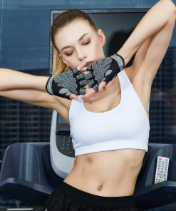 femme etirement avec Gants d entrainement de musculation pour femme