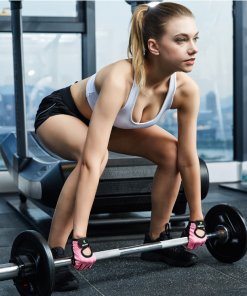 femme souleve de terre avec Gants d entrainement de musculation pour femme