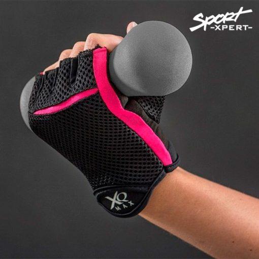 Gants de musculation pour femme avec haltère