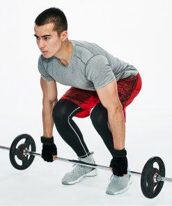 homme souleve de terre gants entrainement musculation homme