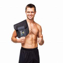 homme portant la ceinture de sudation de musculation abdominale