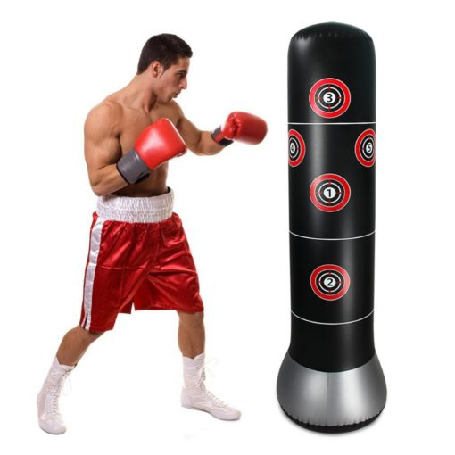 Boxer avec punching ball
