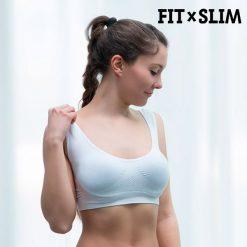 brassière de sport pour femme avec la technologie airflow blanche