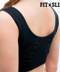brassière de sport pour femme avec la technologie airflow dos couleur noire
