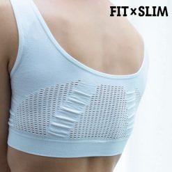 brassière de sport pour femme avec la technologie airflow dos couleur blanche