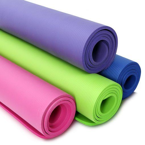 tapis de sol de yoga quatre couleurs rose violet bleu vert