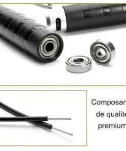 Corde à sauter crossfit avec corde en acier et composants de qualité